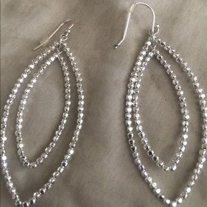 Stella and Dot silver amazing earrings